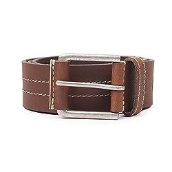 Wolux Men's Brown Leather Belt Large