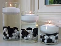 """Wholesale Floating Candles - 3"""" White Unscented - Set of 3 Candles... by Vase Pearlfection"""