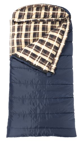 TETON Sports Celsius XL -18 Degree C / 0 Degree F Flannel Lined Sleeping Bag (90″x 36″, Blue, Right Zip)