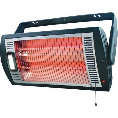 Ceiling-Mounted Workshop Heater with Halogen Light image