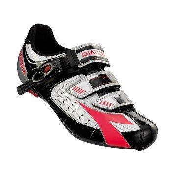 Diadora Women's Trivex Plus Road Cycling Shoe - 159741 (white/black/fuxia red - 40)