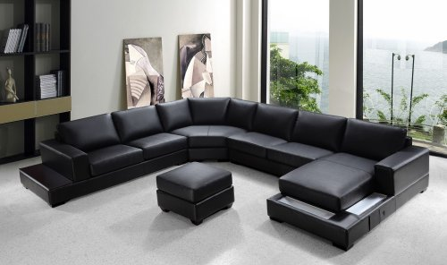 Fabulous Leather Sectional Sofas Set Bali Modern Black Leather Onthecornerstone Fun Painted Chair Ideas Images Onthecornerstoneorg