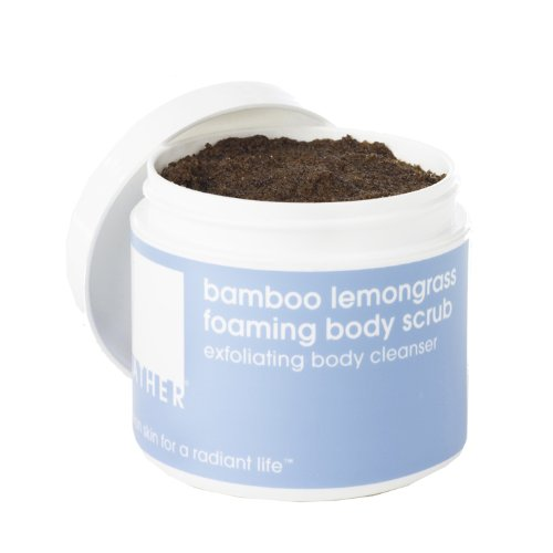 LATHER Bamboo Lemongrass Foaming Body Scrub, 8-Ounce Jar