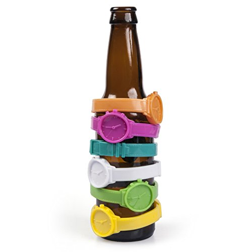 GAMAGO Beer O'Clock Beverage Bands, Multi-Color