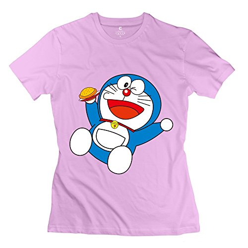 YMGG Womens Tee Happy Childhood Doraemon Is Interesting Size M Pink (Razor Scooter Ninja Turtles compare prices)
