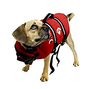Paws Aboard Extra Large Neoprene Designer Doggy Life Jacket Red Lifeguard from Paws Aboard
