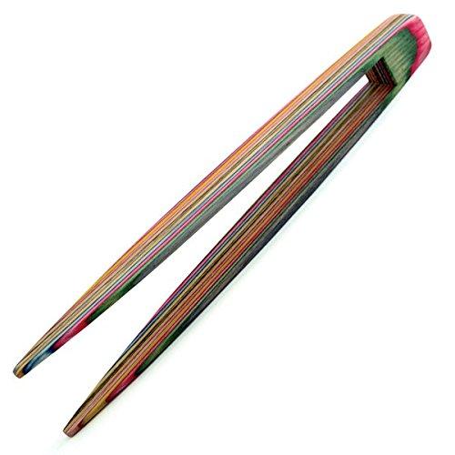 Norpro Rainbow Wood Toaster Tongs 5730