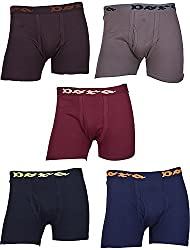 Dora Men's Cotton Brief (Pack of 5, Brown, Grey, Maroon, Black And Blue, 75)