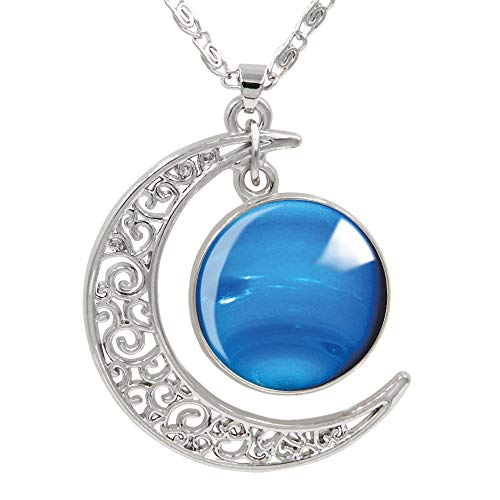 "FANSING Womens Marvelous Necklace, Neptune Pendant Necklaces, Universe Planet Jewelry, 18"" + 2"" Chain"