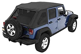 Bestopu00ae 56823-35 Black Diamond Trektop NX Complete Frameless Replacement Soft Top with with Sunrideru00ae Sunroof Feature
