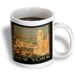 Mug_170130_2 Bln Scenes Of New York City Collection - New York From Glasgow By The Anchor Line Poster Reproduction - Mugs - 15Oz Mug
