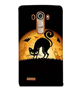 printtech Cool Cat Ghosts Back Case Cover for LG G4::LG G4 H815
