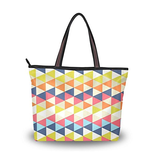 Yuihome Girl A Dizzy kaleidoscope Printing Personality Design Portability Zipper Tote handbag (Dizzy Rain Boots compare prices)