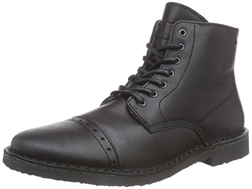 JACK & JONES Jjgobi Leather High Warm Boot Black, Stivaletti classici non imbottiti, corti uomo, Nero (Nero (nero)), 41