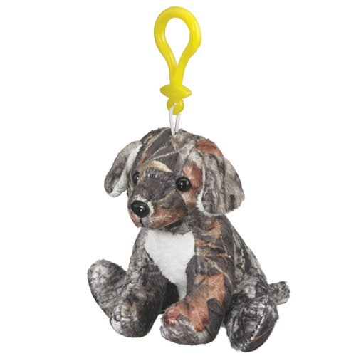 Mossy Oak Camo Labrador Plush Dog Stuffed Animal Backpack Clip Toy Keychain WildLife Hanger Retriever, Chocolate, Yellow Lab Camouflage