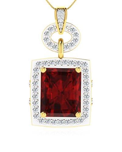 Art Of Diamond Collar Ruby Yellow Gold