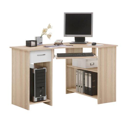 FMD Felix Computer Desk Ash/White WxHxD 118 x 76 x 77 cm