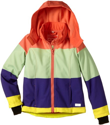 Tom Tailor Kids Mädchen Jacke 35208030040/coloured softshell jacket, Gr. 176, Orange (3424 living coral)