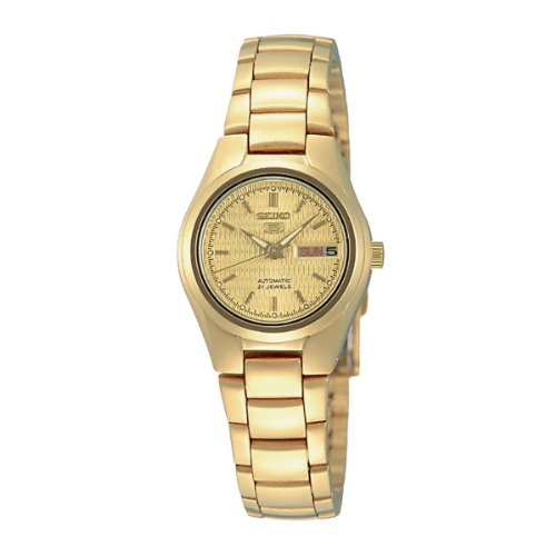 Seiko Women's SYMC18K Gold Stainless-Steel Automatic Watch with Gold Dial