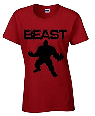 icustomworld Women's Gym Beast Hulk T-shirt Bodybuilding Cool Shirts