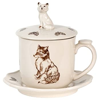 Covered Woodland Fox Mug