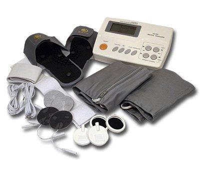Genial Digitales Reizstromgerät & Magnetfeldtherapie EA-F21 - 4 Therapien in einem Gerät - inkl. Massage-Slipper, vielen Elektroden, Thermo-Therapiegurten und weiterem umfangreichen Zubehör