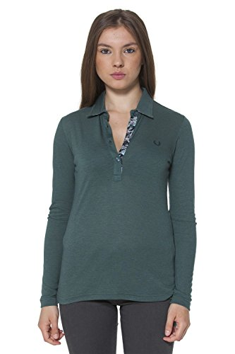 FRED PERRY POLO MANICHE LUNGHE DONNA VERDE