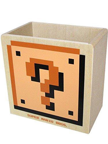 スーパーマリオブラザーズ 木製ダイカット小物入れD(ハテナ/レンガブロック)MZ08