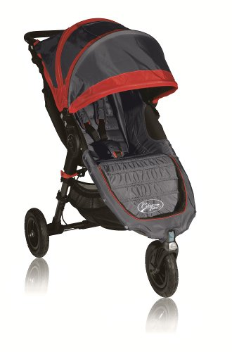 Baby Jogger City Mini GT Single Stroller, Shadow/Crimson
