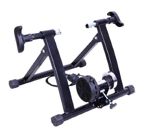 homcom Rollen/Heim-trainer Fahrrad mit Magnetbremse, Schwarz, 5661-0060