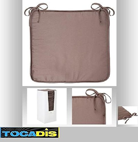 GALETTE DE CHAISE MICROFIBRE 6 COULEURS DIFFERENTES- TOP PRIX - TOCADIS (TAUPE)