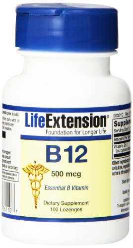 Life Extension Vitamin B12 500mcg Sublingual Tablet, 100-Count