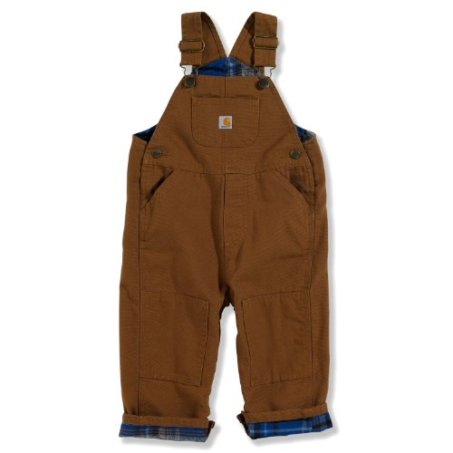 Carhartt Baby-Boys Washed Canvas Bib Overall, Carhartt Brown, 24 Months front-973751
