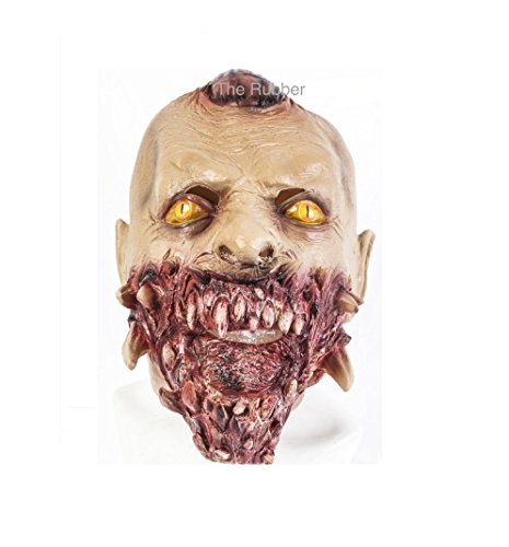 [Zombie Mask Latex Halloween Fancy Dress Costume Gory Open Mouth Demon Monster] (Female Centaur Costume)