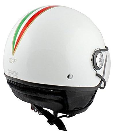 CASQUE 1/2 JET TNT PUCK ITALIA WHITE S