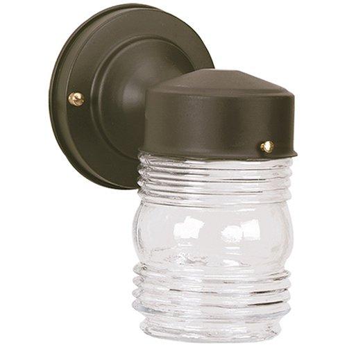 Westinghouse #66885 Black Jelly Jar Fixture