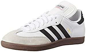 adidas Men's Samba Classic Soccer Shoe,Run White/Black/Run White,9 M