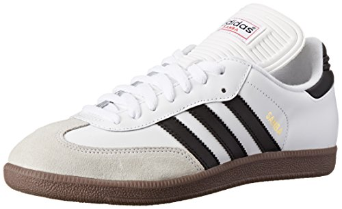 adidas Men's Samba Classic Soccer Shoe,Run White/Black/Run White,11 M US