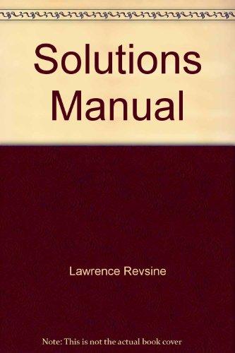 Finacial Reporting and Analysis (Solutions Manual)