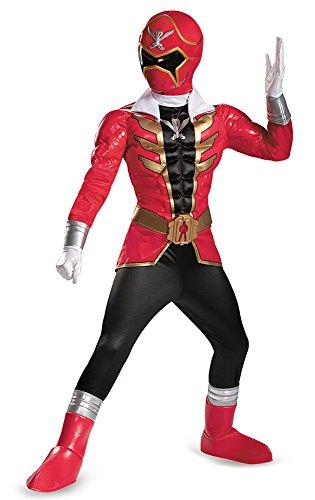 [Disguise Saban Super MegaForce Power Rangers Red Ranger Prestige Boys Costume, Medium/7-8] (Red Megaforce Power Ranger Costume)