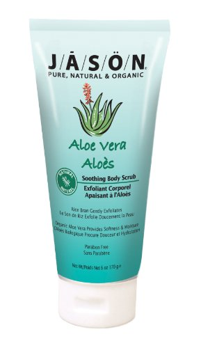 Jason Aloe Vera Soothing Body Scrub, 6Ounce Tubes (Pack of 3)