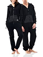 ZIPUPS Mono-Pijama Polkadots (Negro)