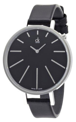 Calvin Klein ck equal K3E231C1 - Reloj para mujeres, correa de cuero color negro