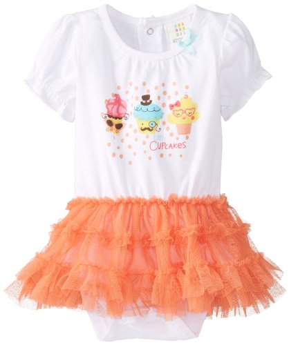 Absorba Baby-Girls Newborn Cupcakes Tutu Dress, Salmon, 0-3 Months front-666354