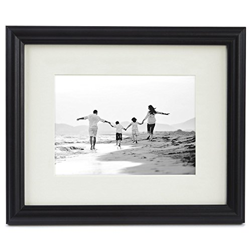 8x10 Black Picture Frame - Matted to Display Photographs 5x7 or 8x10 ...