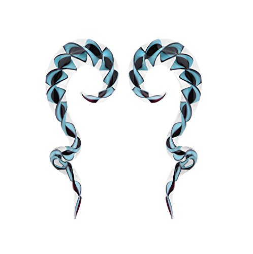 Glass Wild Tribe Ribbon Spiral Taper 00G (Cool Gauges compare prices)
