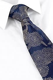 Autograph Pure Silk Floral Embroidered Tie