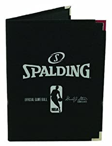 Spalding NBA Pebble Notebook, Black, 8.5 x 11-Inch