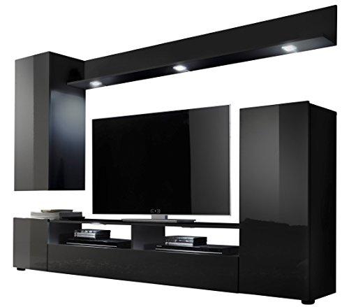 trendteam-DS94532-Wohnwand-Wohnzimmerschrank-schwarz-Hochglanz-BxHxT-208x165x33-cm