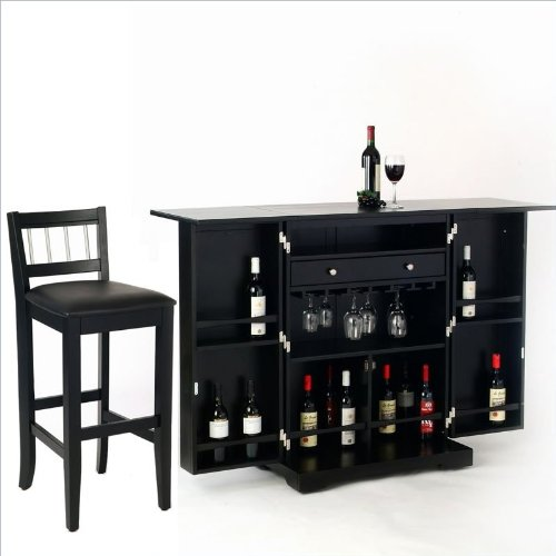 Black friday home styles furniture steamer black folding home bar set images frompo Home bar furniture amazon